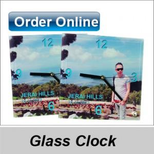 Desktop glass clock