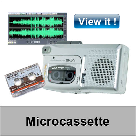 microcassette video tape conversion