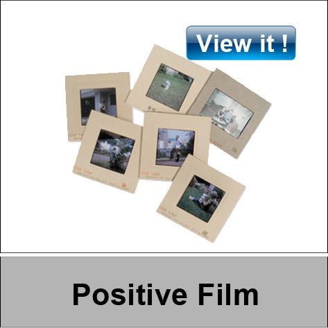 Positive slide film