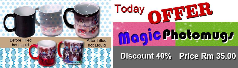 Magic Photo Mug Offer in Penang Malaysia