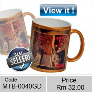 Metallic Gold color mugs