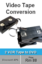 video tape conversion experts Penang Malaysia