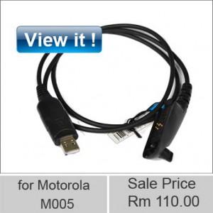 motorola walkie talkie USB programming M005