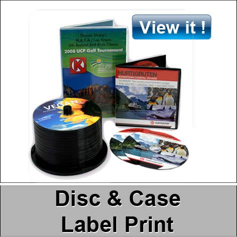 disc & case label print