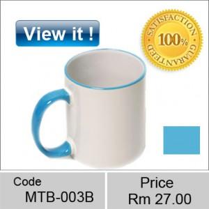 color mug Rim Blue