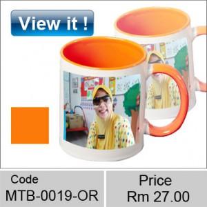 color orange mug