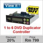 image 1 to 6 dvd duplicator controller